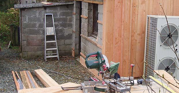 Bardage bois delahaye r novation for Isolation terrasse carrelee