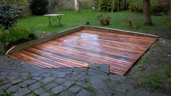R fection petite terrasse bois delahaye r novation for Isolation terrasse carrelee